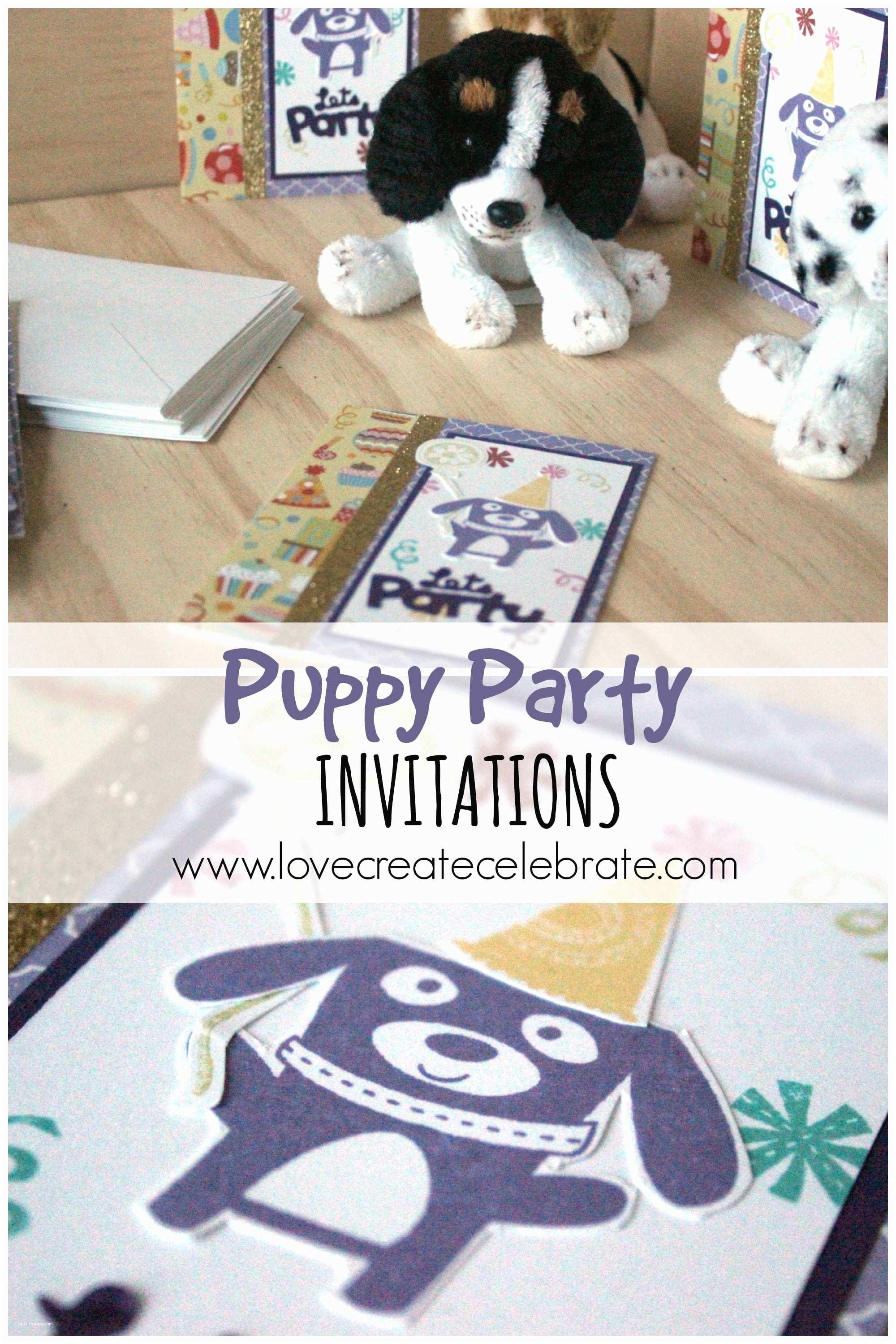 Puppy Party Invitations Puppy Party Invitations Love Create Celebrate
