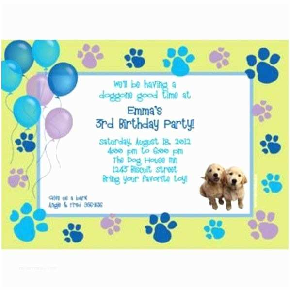 Puppy Party Invitations Puppy Party Personalized Invitation Personalized Custom