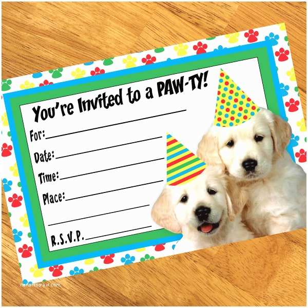 Puppy Party Invitations Puppy Party Planning Ideas Birthday Party Stuff