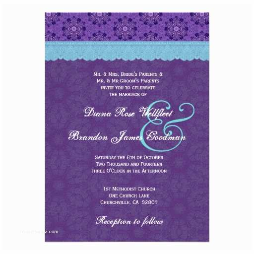 Purple and Blue Wedding Invitations Purple and Turquoise Cake Ideas and Designs