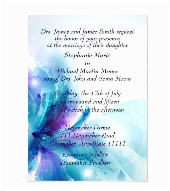 Purple and Blue Wedding Invitations Purple Wedding Invitations