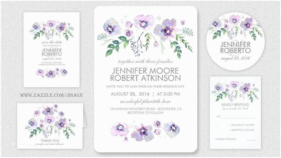 Purple and Blue Wedding Invitations Read More – Blue Purple Floral Watercolor Wedding