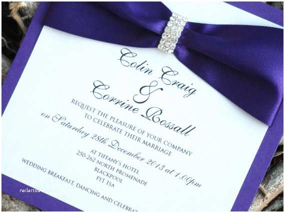 Purple and Blue Wedding Invitations Royal Blue and Purple Wedding