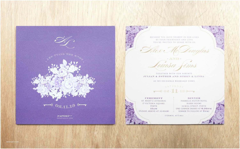 Purple and Gold Wedding Invitations Purple and Gold Invitation Purple and Gold Wedding
