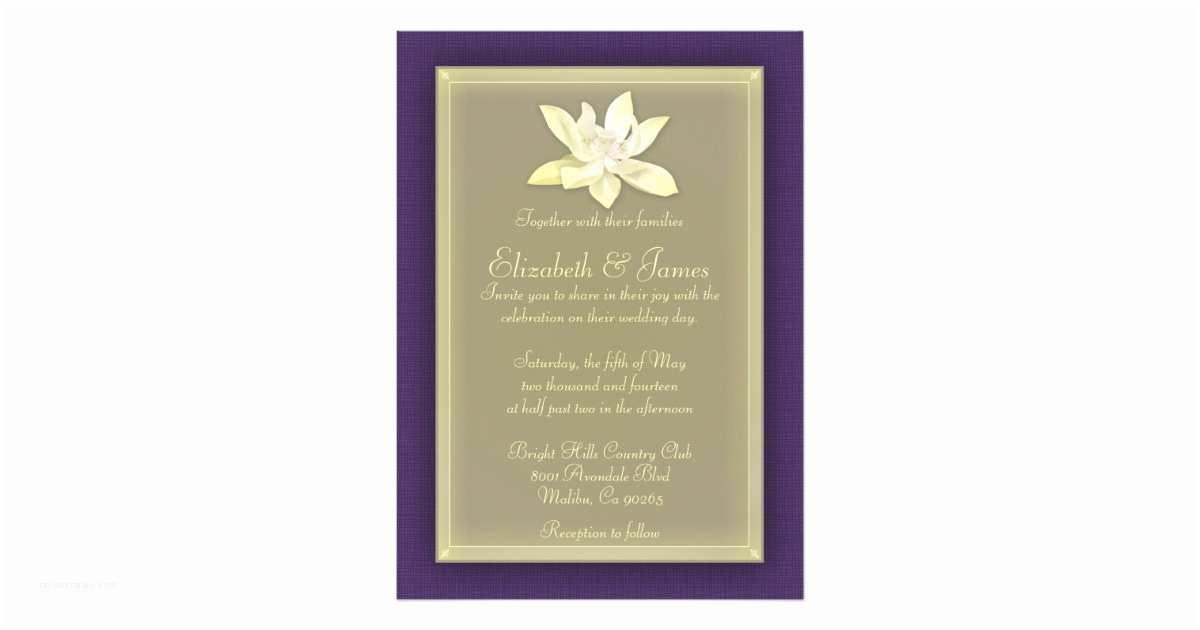 Purple and Gold Wedding Invitations Purple and Gold Wedding Invitations