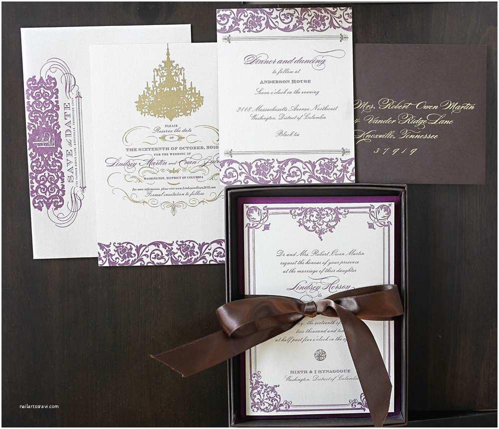 Purple and Gold Wedding Invitations Purple and Gold Wedding Invitations Template