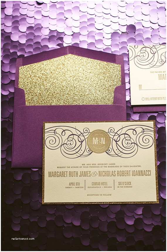 Purple and Gold Wedding Invitations Wedding Ideas Purple and Gold Wedding theme