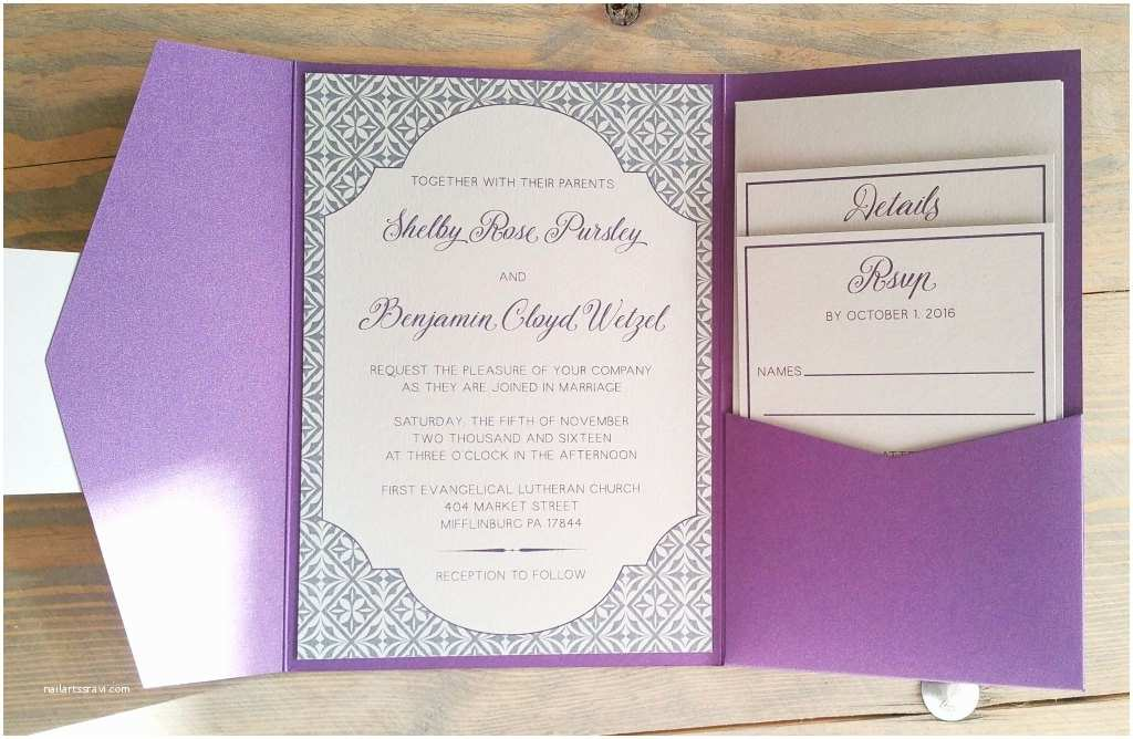 Purple and Gray Wedding Invitations Purple and Gray Architecture Inspired Wedding Invitation