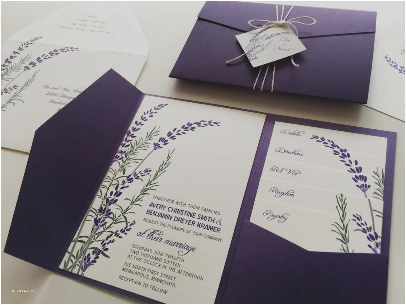 Purple and Gray Wedding Invitations Purple and Grey Wedding Invitations Purple