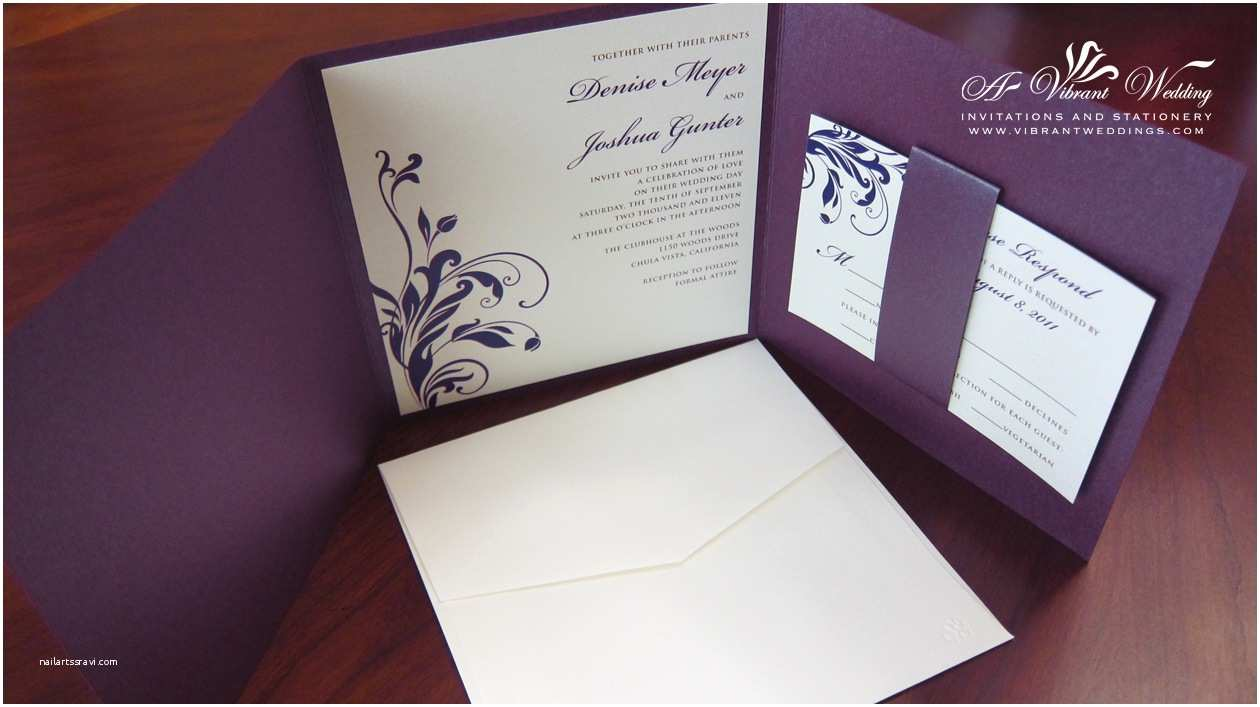 Purple and Gray Wedding Invitations Purple Wedding Invitation – A Vibrant Wedding