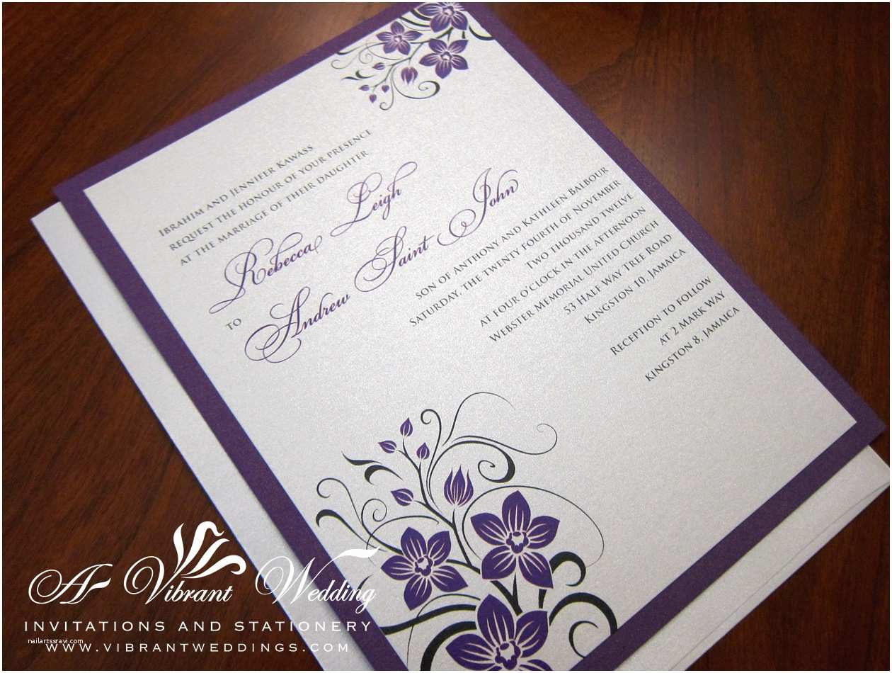 Purple and Silver Wedding Invitations Best Album Purple and Silver Wedding Invitations
