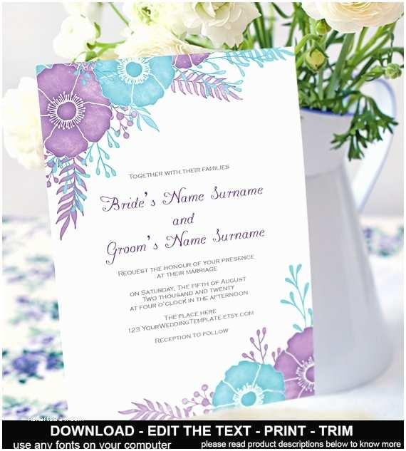 Purple and Turquoise Wedding Invitations 6 Best Of Teal Wedding Invitation Templates