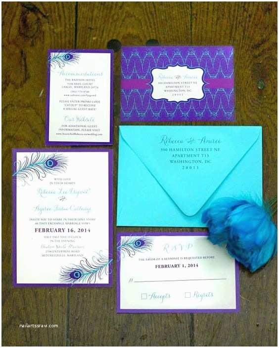 Purple and Turquoise Wedding Invitations Receptions Turquoise and Wedding On Pinterest