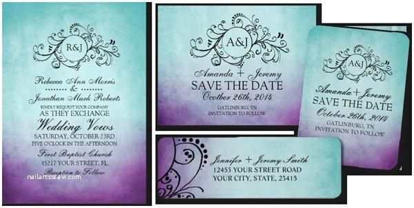 Purple and Turquoise Wedding Invitations Wonderful Purple and Turquoise Wedding Invitations which