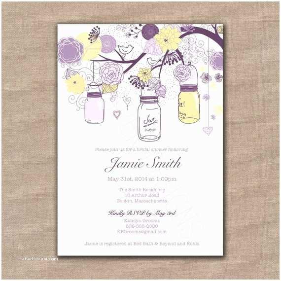 Purple and Yellow Wedding Invitations Items Similar to Custom 5x7 Invitations & Envelopes