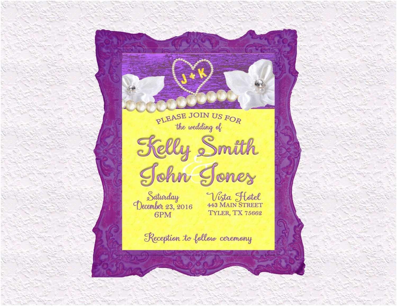 Purple and Yellow Wedding Invitations Purple and Yellow Wedding Invitation Rsvp Thank You Cards