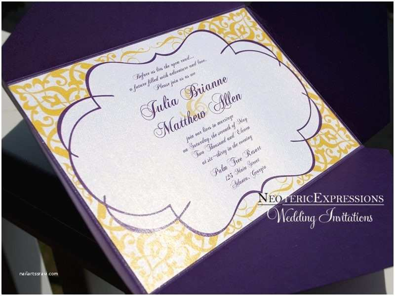Purple and Yellow Wedding Invitations Purple and Yellow Wedding Invitations Cobypic