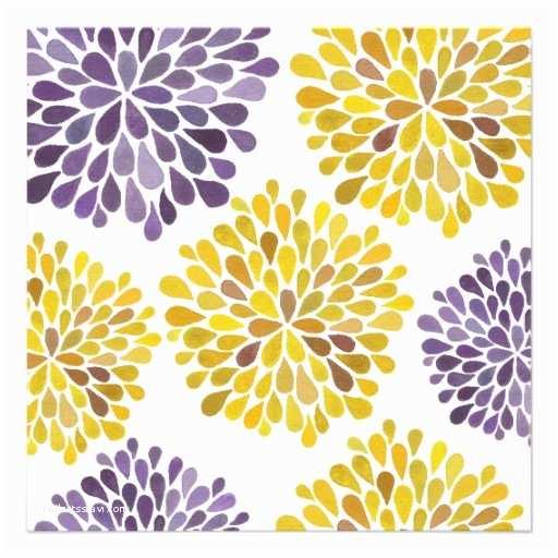 Purple and Yellow Wedding Invitations Wedding Purple Yellow Flower Blossoms Invitation 5 25
