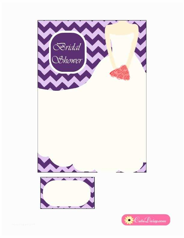 Purple Bridal Shower Invitations Bridal Shower Invitation In Lilac and Purple Color