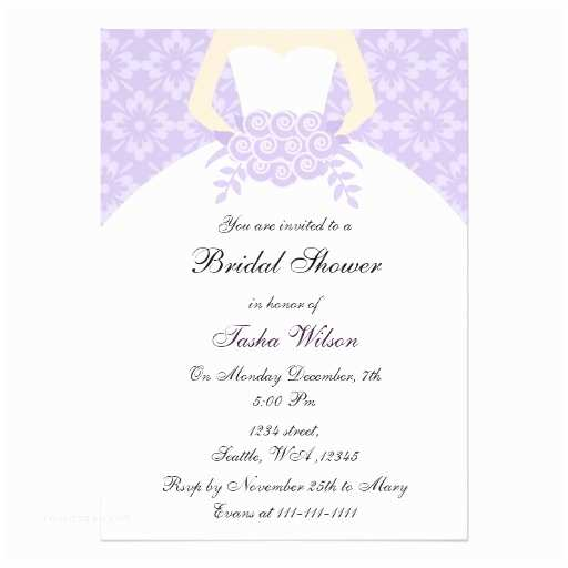 Purple Bridal Shower Invitations Purple Bridal Shower Invitation