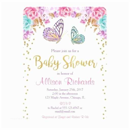 Purple butterfly Baby Shower Invitations 346 Best butterfly Baby Shower Invitations Images On