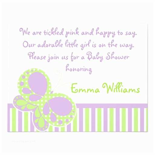 """Purple butterfly Baby Shower Invitations butterfly Dots Baby Shower Invitation Purple Green 4 25"""" X"""