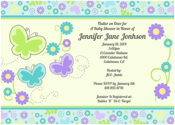 Purple butterfly Baby Shower Invitations Purple butterfly Baby Shower Invitations – Gangcraft