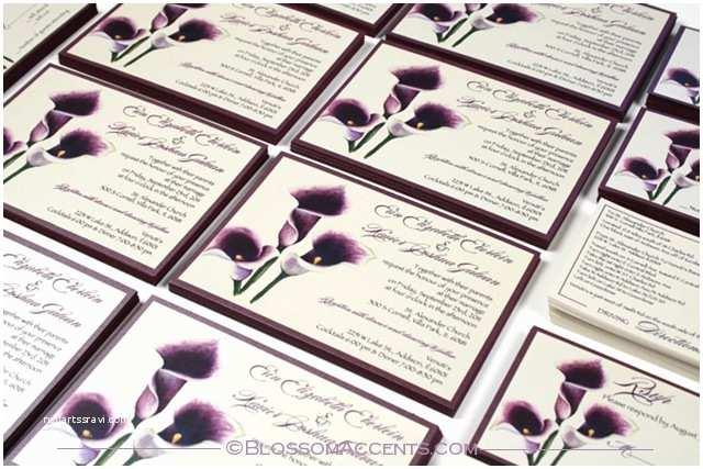 Purple Calla Lily Wedding Invitations Halina S Blog Purple Calla Lily Wedding Invitation these