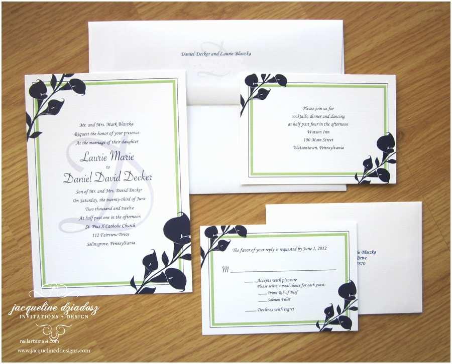 Purple Calla Lily Wedding Invitations Laurie & Daniel S Calla Lily Wedding Invitiations