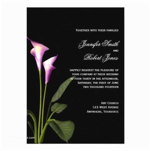 Purple Calla Lily Wedding Invitations Pinterest Discover and Save Creative Ideas
