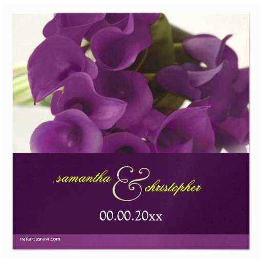 Purple Calla Lily Wedding Invitations Pixdezines Purple Calla Lilies Diy Custom Invitation