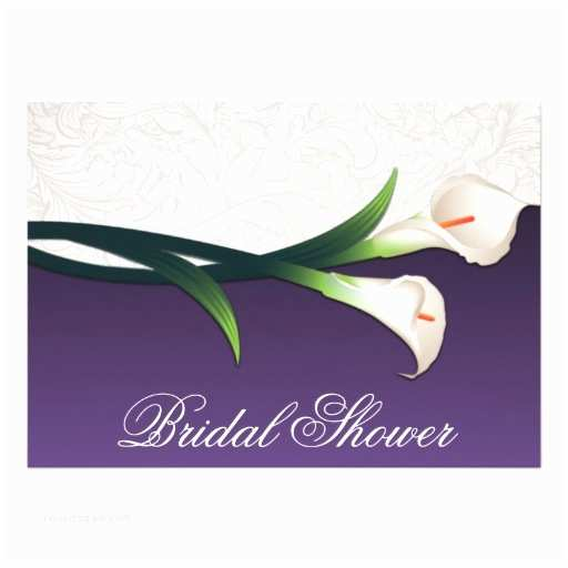 Purple Calla Lily Wedding Invitations Purple White Calla Lily Bridal Shower Invitations 13 Cm X