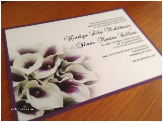Purple Calla Lily Wedding Invitations Unavailable Listing On Etsy