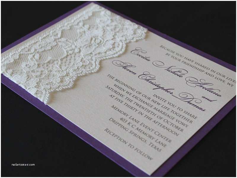 Purple Lace Wedding Invitations Invitations – Wedding Invitations Austin and the Hill Country