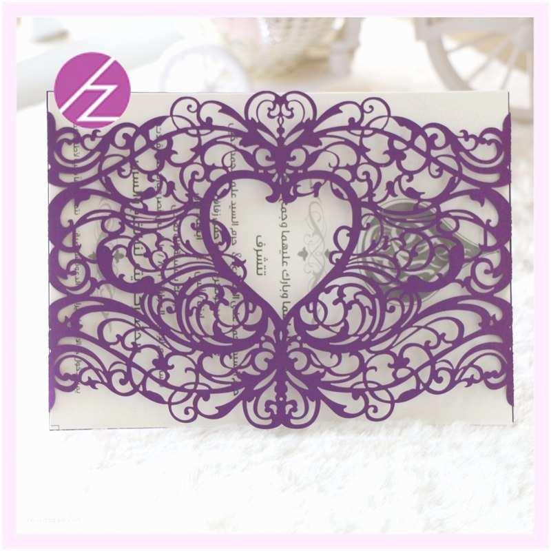 Purple Lace Wedding Invitations Line Get Cheap Rsvp Invitation Cards Aliexpress