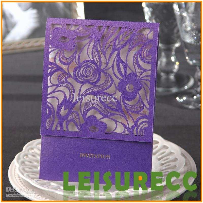 Purple Lace Wedding Invitations Purple Wedding Invitations Lace Hollow Wedding Card Matter