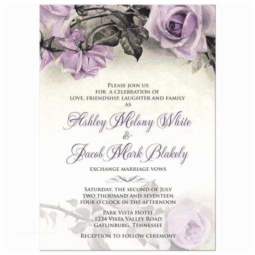 Purple Rose Wedding Invitations 17 Best Ideas About Purple Roses Wedding On Pinterest