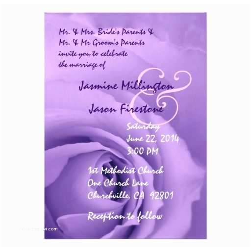 "Purple Rose Wedding S Dreamy Pastel Purple Rose Wedding V2 5"" X 7"""