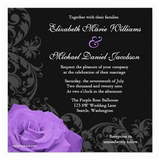 Purple Rose Wedding S Purple Rose Flourish Wedding