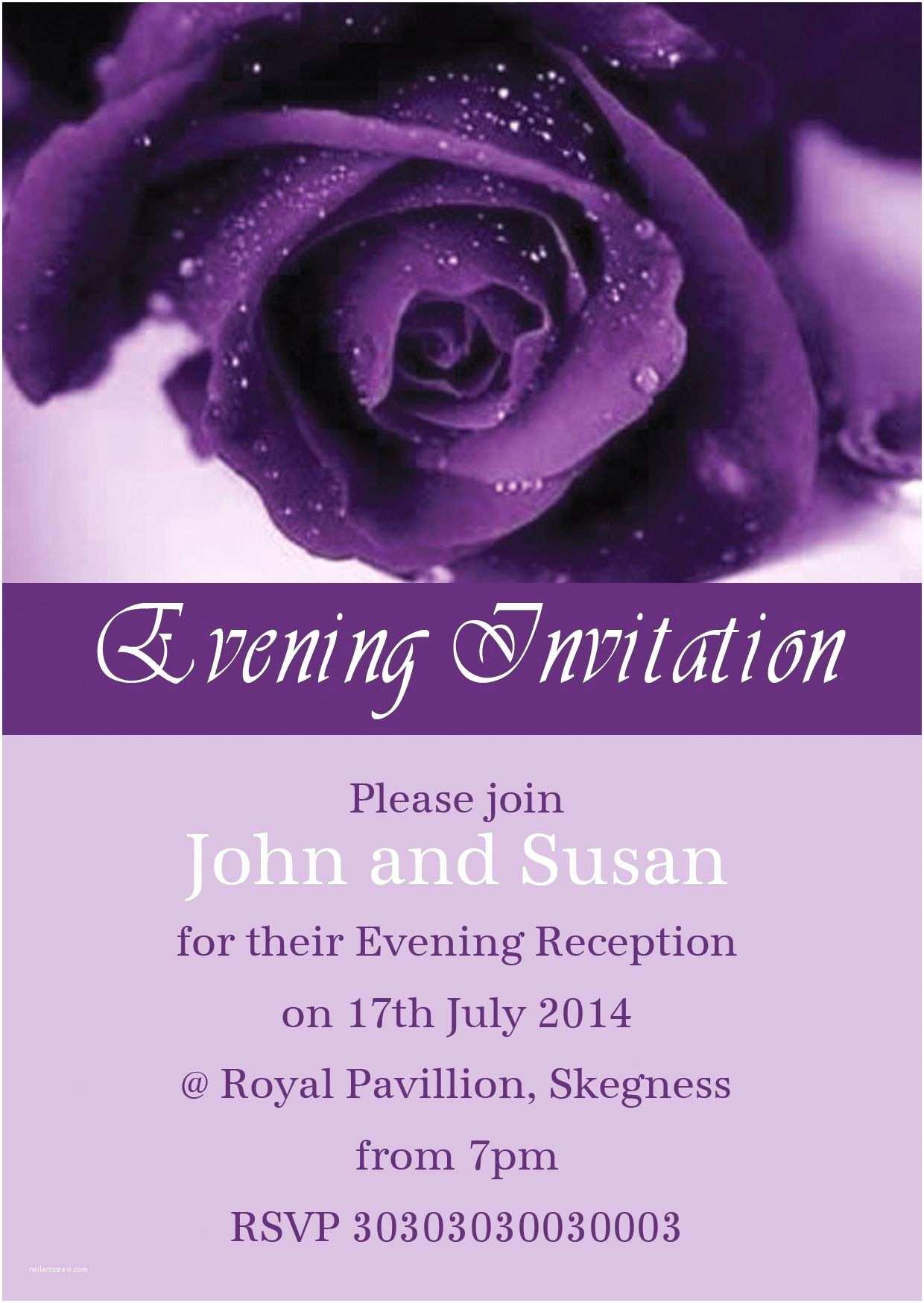 Purple Rose Wedding  Purple Rose Personalised Wedding