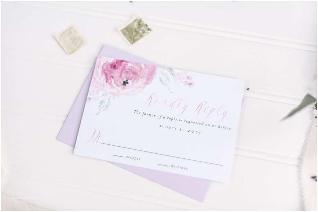 Purple Rose Wedding Invitations Purple Rose Watercolor Wedding Invitations