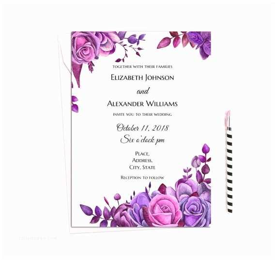 Purple Rose Wedding Invitations Purple Wedding Invitations Unique Cadburys Purple & orange