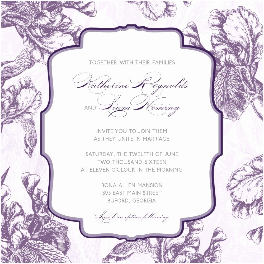 Purple Silver and Black Wedding Invitations 6 Best Of Purple Wedding Templates Blank Wedding