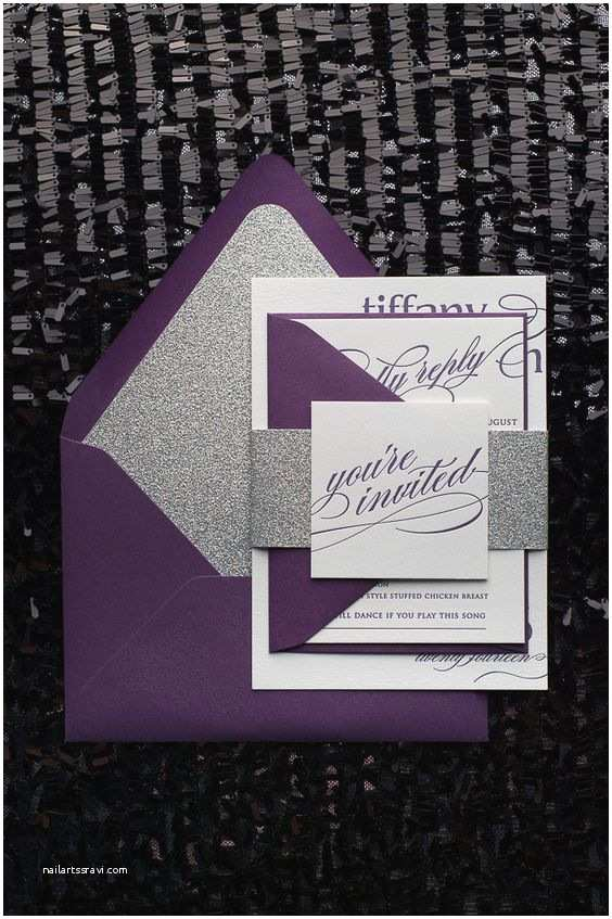 Purple Silver and Black Wedding Invitations A Rainbow Of Wedding Inspiration