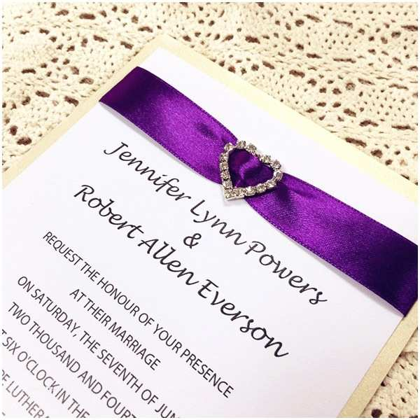 Purple Silver and Black Wedding Invitations Layered Wedding Invitations From Elegantweddinginvites