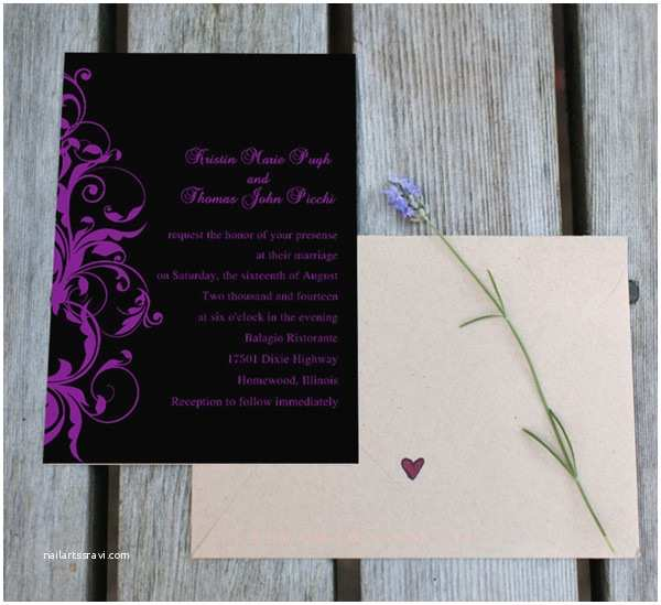 Purple Silver and Black Wedding Invitations Practical Tips Planning A Disney Movie Inspired