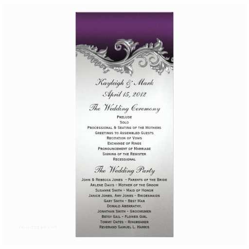 Purple Silver and Black Wedding Invitations Purple and Silver Vintage Invitations 303 Purple and