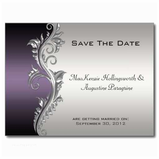 Purple Silver and Black Wedding Invitations Teal and Silver Wedding Invitations