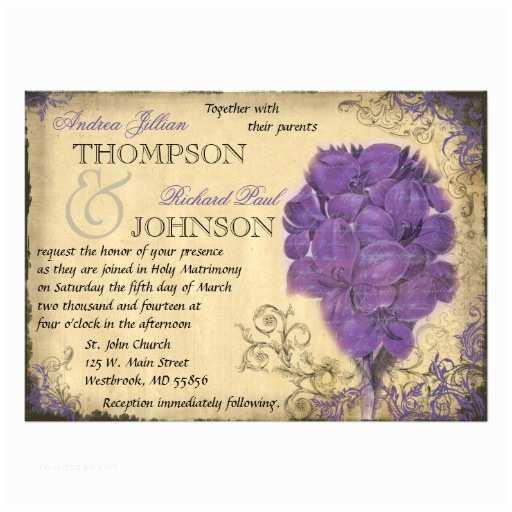 Purple Vintage Wedding S Purple Floral Vintage Wedding
