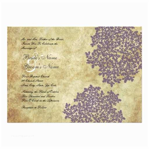 Purple Vintage Wedding Invitations Purple Floral Vintage Wedding Invitations